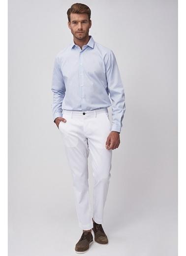 Altınyıldız Classics Slim Fit Armürlü Pantolon 4A0119220024 Beyaz